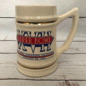 VTG '83 Super Bowl XVII Rose Bowl Pasadena CA Mug